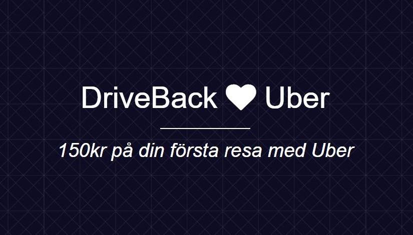 Res med stil – Gratis Uber till din DriveBack!